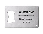 115 of Personalized Stainless Steel Credit Card Bottle Opener, engraved bottle opener wedding favor,groomsman gift, personalized party favor