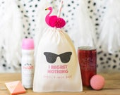 Bachelorette Party Bags Sunglasses Bachelorette Party Bags I Regret Nothing Hangover Kit Bags Custom Hen Party Bag Customizable Bags