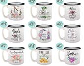 Personalized Bridesmaid 15oz Coffee Camp Mug Gifts with FREE CUSTOMIZATION, Wedding Gifts, Party Favors, Bridesmaid Gifts, Housewarming Gift