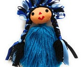Authentic Mexican Ribbon Girl Doll With Braids, Rag Doll, Ornament, Key Chain, Party Favor