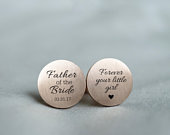 Personalized Cufflinks, Custom Cuff links, Father of the Bride Gift