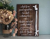 Cord of Three Strands Sign, Ecclesiastes 4:12 KJV, Alternative Unity Candle, Unity Ceremony Sign, Wedding Gift W