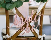 Bride to Be Bridal Shower Chair Sign 13 x 8 Laser Cut Wood Seat Sign, Engagement Party Decor, Bachelorette Party Feminine Style