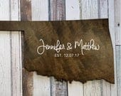 Oklahoma State, Wedding Guest Book Alternative, State Board, State Guest Book, Wood Guestbook, Custom State Sign, Personalized State Sign