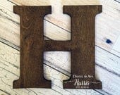 Large Letter, Wedding Guest Book Alternative, Wood Guest Book. Wood Cutout, Distressed Letter Sign, Wedding Sign