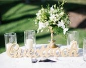 Guest Book Sign for Wedding Freestanding Guestbook Wooden Wedding Sign for Reception Decor (Item TGU100)