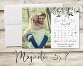 5x7 inch Save The Date Magnet, Holiday Magnet Save the Date, Christmas Photograph Save the Date, Holiday Save the Date with Photo Magnet