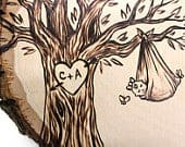 Blanket Baby Design: Rustic tree wood slice baby shower birthday guest book