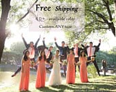 Bridesmaid Dress Orange Dress Wrap Convertible Infinity Dress Evening Dresses Free Shipping