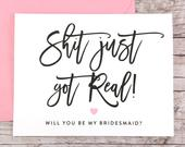 Bridesmaid Proposal Card, Will You Be My Bridesmaid Card, Funny Bridesmaid Card, Funny Bridesmaid Proposal (FPS0047)