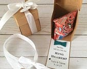 Ring Pop Box, Will you be my Ring Bearer Gift Box, Ring Pop Bridesmaid Proposal, Flower girl Gift, Mini paper box Kraft brown color