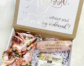 Bridesmaid proposal boxBridesmaid gift box Bridesmaid gift Bridesmaid gift box Bridal party gift boxes Gifts for her Wedding party gift set