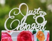 Cake topper Engagement Cake Topper Just Engaged cake topper Bridal Shower Cake topper Engagement Party Cake Decor