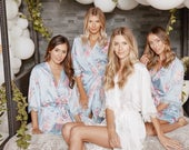 Bridesmaid Robes Floral Robes Bridesmaid Gifts Bridal Party Robes Wedding Robes Lace Bridal Robe Bride Robe Rylan Robe