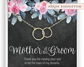 Mother of the Groom from Bride Gift Necklace Future Mother in Law Wedding Gift to Mother in Law Gift from Bride, 14kt Gold Fill, Rose Silver