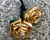 Gold Metallic Boutonniere, Metallic Boutonniere, Gold Prom Flowers, Boutonniere for Wedding, Unique Boutonnire, Prom Boutonnire