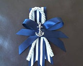Nautical boutonniere, Anchor boutonniere, Navy boutonniere, Ocean wedding, Nautical wedding