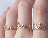 Custom Name Ring Personalized Name Ring Baby Name New Mom Ring Bridesmaid Jewelry Meaningful Christmas Gifts PR04F63