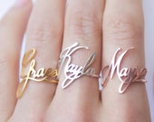 Custom Name Ring Children Name Ring Sterling Silver Ring Personalized Gift Gift for Her Baby Girl Ring Mothers Gift RM02F18