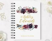 Wedding Planner 9 Hardcover Coil Bound Tabbed Customized Wedding Planner, Planner for Bride, Wedding Organizer Real Foil Option
