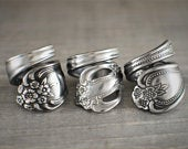 Spoon Ring, Personalized Ring, Victorian Spoon Ring, Stainless Steel Rings, Durable Rings, Gifts for Her, Gifts for Mom, Group Gifts