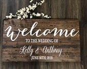 Wedding Welcome Sign / Rustic Wood Wedding Sign / Rustic Wedding Decor / Country Wedding Bestseller Wedding Sign
