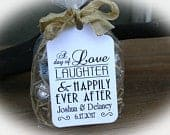 Wedding Favor Tag Love Laughter Happily Ever After Wedding Tags Wedding Favor Wedding Favor Kits Engagement Favor Rehearsal Dinner