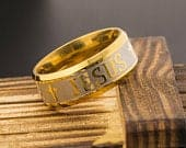 Gold JESUS Wedding Band