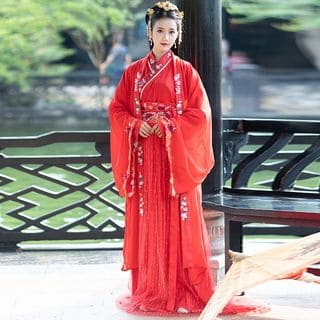 Embroidered Hanfu Top / Strapless Maxi Dress / Maxi Skirt