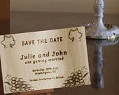 SALE Wood Save the Date,Vineyard Save the date,Winery save the date,Rustic save the date,grape save the date,traditional contemporary