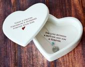 Mother of the Groom Gift, Gift From Groom to Mom With Necklace Heart Keepsake Box Today a Groom, Tomorrow a Husband, Forever Your Son