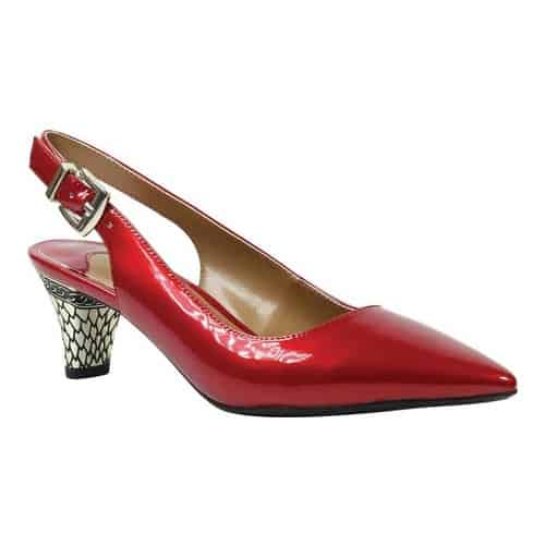 Women's J. Renee Mayetta Slingback, Size: 10.5 M, Red Pearlized Patent Synthetic