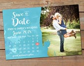 Save the Date Magnet, Watercolor Save the Date Announcement, Calendar Save the Date Announcement