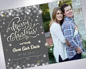 Merry Christmas Save The Dates Postcards or Announcements with Envelopes Custom Save the Date Engagement Announcement Holiday Card