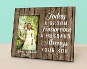 Mother of The Groom Gift Today a Groom, Tomorrow a Husband, Always your Son Personalized Wedding Picture Frame Photo Frame PF1149