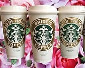 Bridal Party Starbucks Travel Coffee Mug Tumbler for Bride Bridesmaid Proposal Box Maid of Honor Wedding Party Planner Gift StarTangledArts