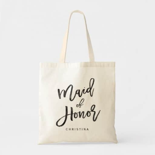 Calligraphy maid of honor Tote Bag