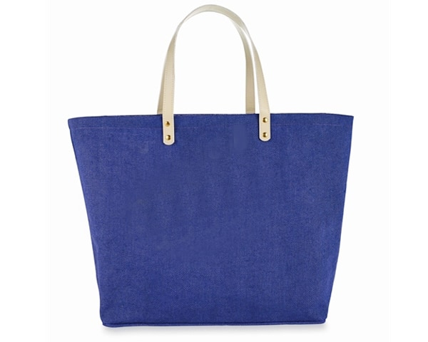 Purple Jute Tote Bag - Personalization Available