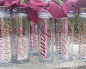 Personalized Tumbler, Bridal Party Gifts, Bachelorette Party, Wedding, Wedding Cup, Wedding Tumbler