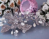 Bridal Hair Comb Freshwater Pearl Bride Headpiece Head Piece Accessories Wedding Accessory Weddings Party Gift Brides Jewelry Birdcage Veil
