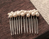 Freshwater Pearl hair comb small hair comb for wedding pearl hair piece simple wedding accessories bridal jewelry stocking stuffers