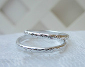 PAIR of Faux Wedding Bands Wedding Rings for your Ring Pillow, Anniversary, Bridal Shower, Wedding Favors Choice of Silver or Gold