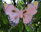 PINK Feathers Butterfly Hair Clip Weddings 5 X 3.5 inches
