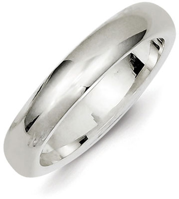 Sterling Silver 4mm Comfort Fit Wedding Band