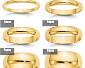 14K Solid Yellow Gold 2mm 3mm 4mm 5mm 6mm 8mm Wide Mens and Womens Wedding Band Ring Sizes 414. Solid 14k Yellow Gold,Thumb Toe Midi Ring