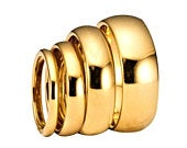 2mm, 3mm, 4mm, 5mm, 6mm, 8mm Gold Plated Polished Tungsten Carbide Wedding Ring Classic Half Dome Band. Free Inside Laser Engraving