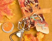 Maple Leaf Bottle Opener Fall Wedding Favors (Pack of 10) Autumn Party Favor Copper