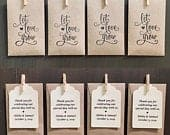 Let Love Grow SEEDS INCLUDED Personalized Wedding Favor/Shower gift Brown Seed Packets Sunflower or Wildflower, Free Shipping