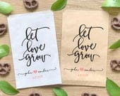 Flower Seeds Favor Bags for Wedding, Love Grows Here, Treat Bags, Petal Toss Bags BWE202