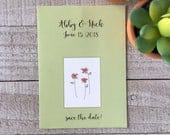 Custom Seed Packets, personalized PTA gift in bulk, wedding favors, bridal shower gift, save the date, seed included
